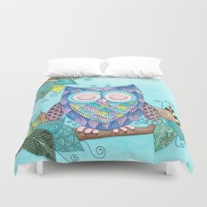 Sleepy Owl 2 Duvet Cover