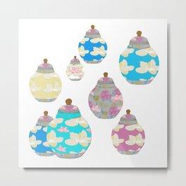 Oriental Jars Metal Print