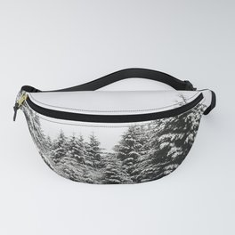 Fir Forest Winter Snow II - Nature Photography Fanny Pack