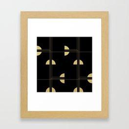 Art Deco / Black Cat Eye Pattern Framed Art Print