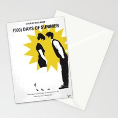 No500 My (500) Days Of Summer minimal movie poster Stationery Cards
