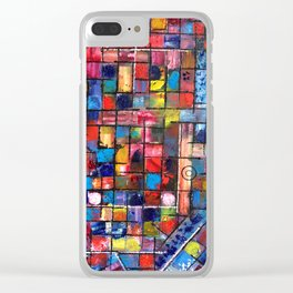 """""""Gridlocked"""" Clear iPhone Case"""