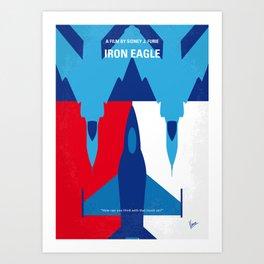 No1028 My Iron Eagle minimal movie poster Art Print