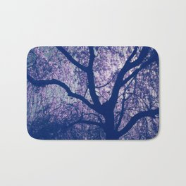 Cherry Blossom Blue Bath Mat