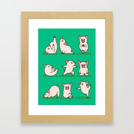 Pig Yoga Framed Art Print