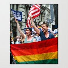 Gay Pride Parade Marchers 2 Canvas Print