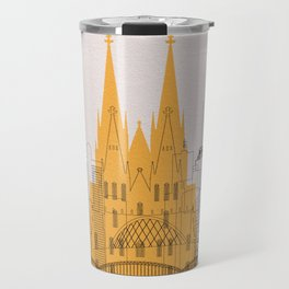 Cologne Landmarks Poster Travel Mug