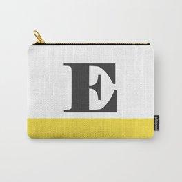 Monogram Letter E-Pantone-Buttercup Carry-All Pouch