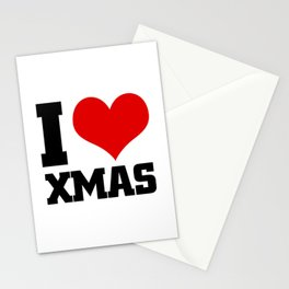I love XMAS Stationery Cards