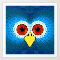 Eagle Hypnotic Eye Art Print