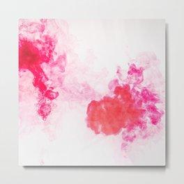 Red Smoke of Cloud Metal Print