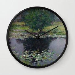Willard Metcalf - Pond Lilies Wall Clock