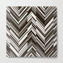 Zig zag monochrome pattern. Metal Print