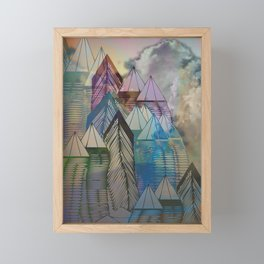 Triangular Endings on the Top Above the Clouds / Urban 04-11-16 Framed Mini Art Print