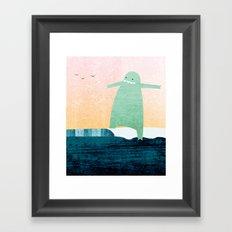 Monster Wave Framed Art Print