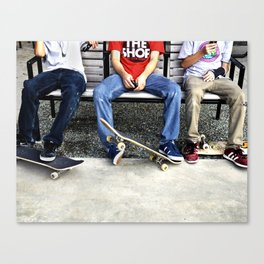 Skaters, Dallas, TX Canvas Print