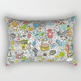 Comic Pop art Doodle Rectangular Pillow