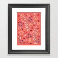 Little Ladybugs Framed Art Print
