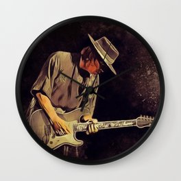 Stevie Ray Vaughan, Music Legend Wall Clock