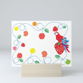 Kitchen scarlet macaw Mini Art Print