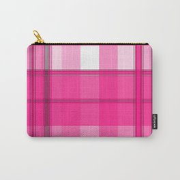 Shades of Pink and White Plaid Carry-All Pouch