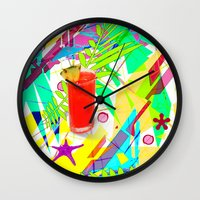 cocktail Wall Clocks featuring Cocktail by LoRo  Art & Pictures