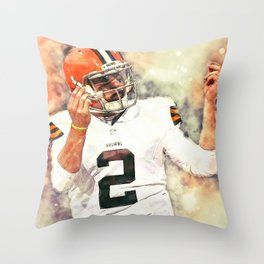 Johnny Manziel Throw Pillow