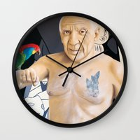 picasso Wall Clocks featuring Picasso by Matthew Lake