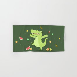 Alligator Hand & Bath Towel