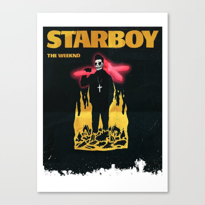 The Weeknd Starboy Canvas Print