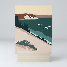 Minimalist Sleeping Bear Mini Art Print