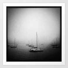 Fog At Marshall Art Print