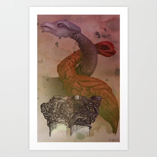 dragons de Cluny Art Print