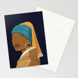 Girl With a Bamboo Earring Stationery Cards