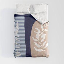 modern leaves 2 Comforters