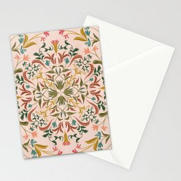 Pink Retro florals Stationery Cards