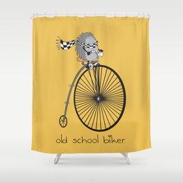 old school biker Shower Curtain