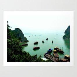 Halong bay freedom Art Print