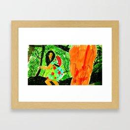 summer dress Framed Art Print