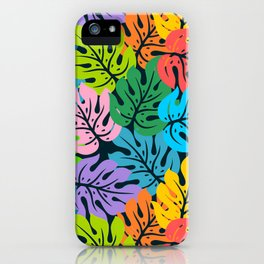 Poster Background | Colorful Monstera Pattern iPhone Case