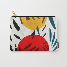 Yellow and Red Abstract Art Graphic Design Carry-All Pouch