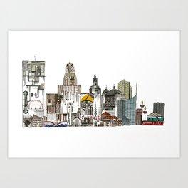 Queen City, Buffalo NY Art Print