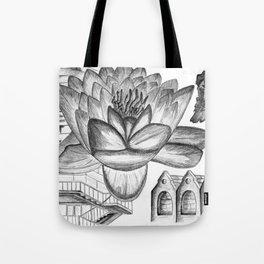 A Flower Above Shelter Tote Bag