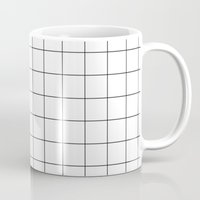 grid Mugs featuring grid by 550am
