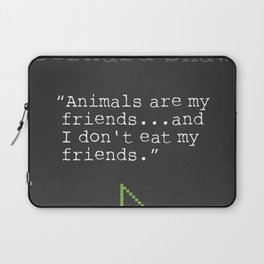 George Bernard Shaw quote about vegetarian Laptop Sleeve