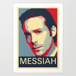 Baltar 'Messiah' design. Inspired by Battlestar Galactica. Art Print
