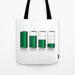 Battery Charge Indicator Tote Bag