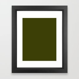 Dark olive Framed Art Print