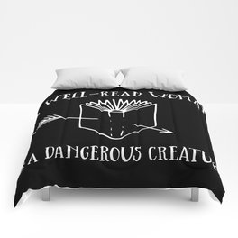 A Well-Read Woman is a Dangerous Creature (Inverted) Comforters
