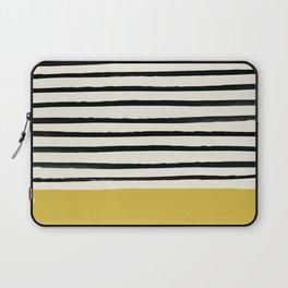 Mustard Yellow & Stripes Laptop Sleeve